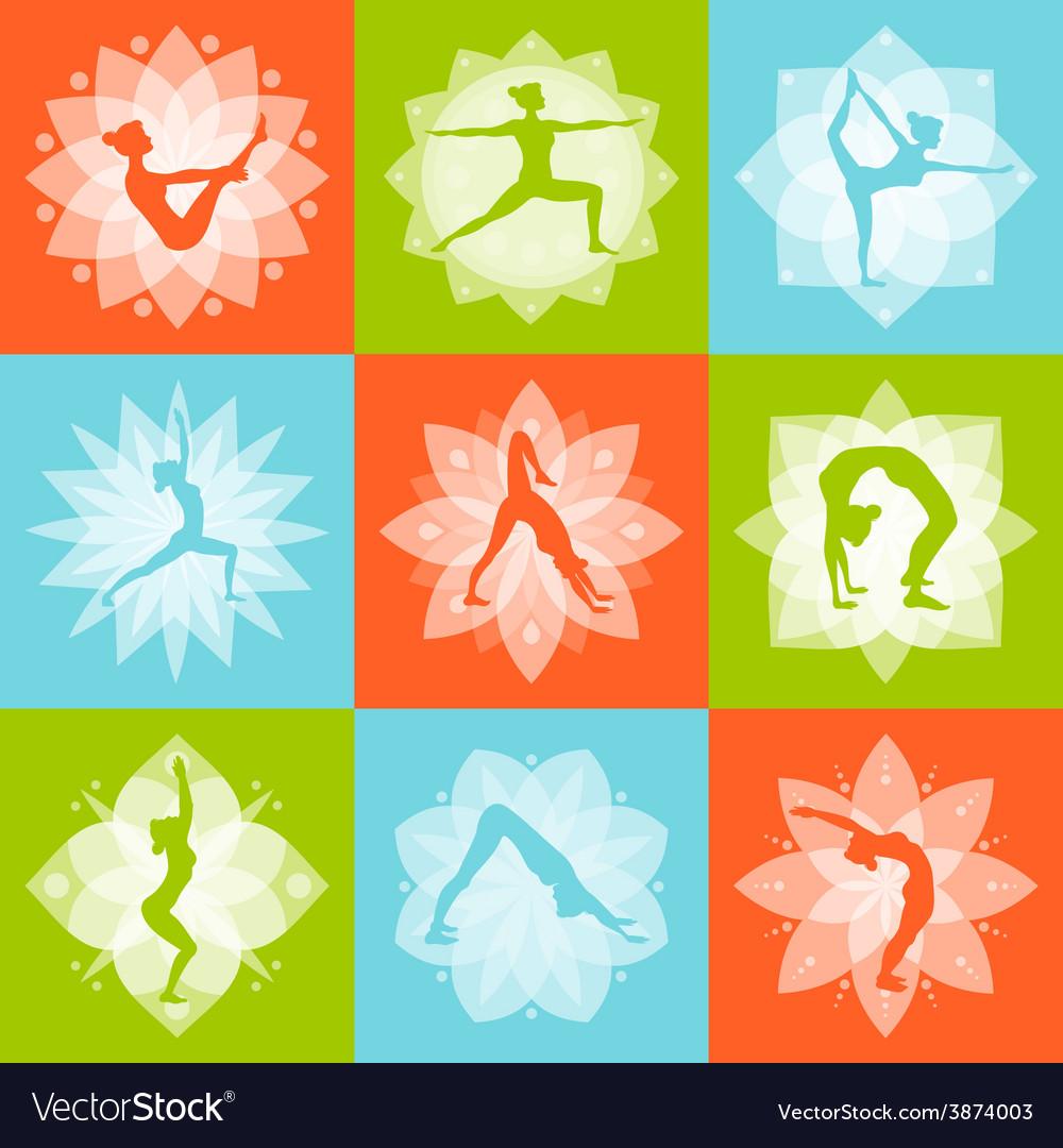 Yoga design concept vector | Price: 1 Credit (USD $1)
