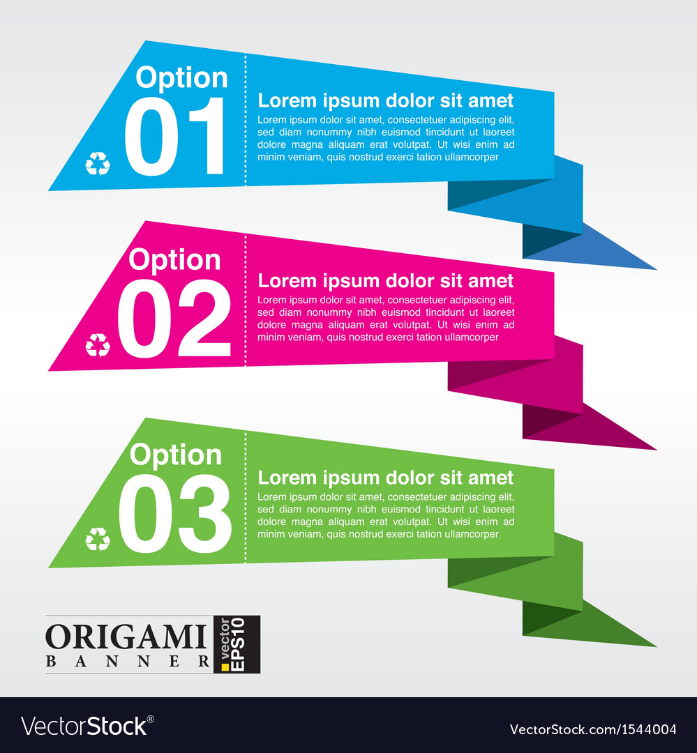Abstract colorful origami banner eps10 vector | Price: 1 Credit (USD $1)