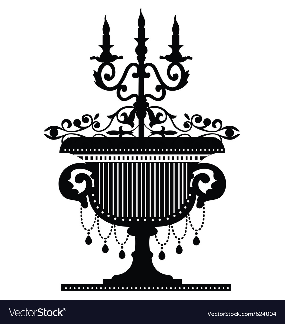 Candelabra silhouette vector | Price: 1 Credit (USD $1)