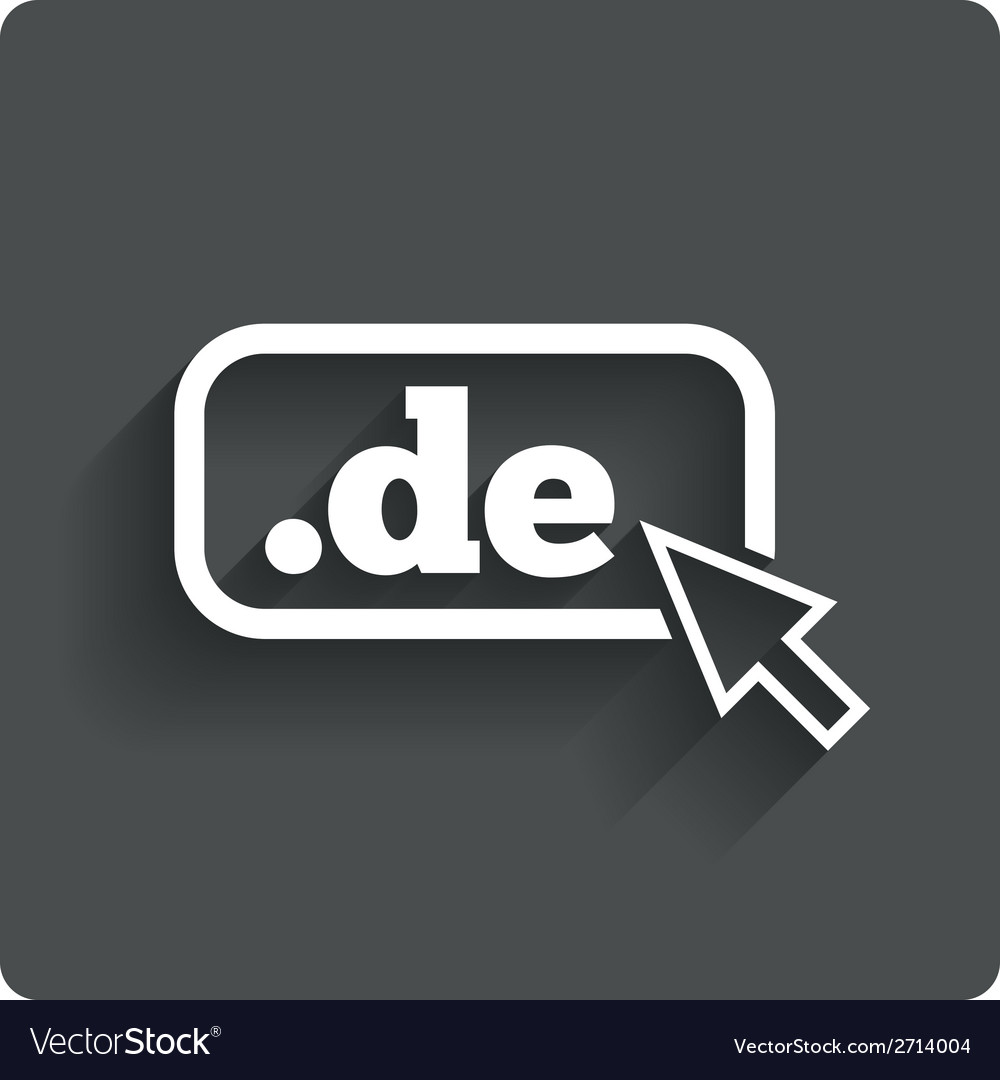 Domain de sign icon top-level internet domain vector   Price: 1 Credit (USD $1)