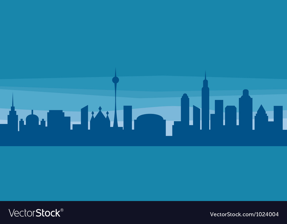 Evening cityscape vector | Price: 1 Credit (USD $1)