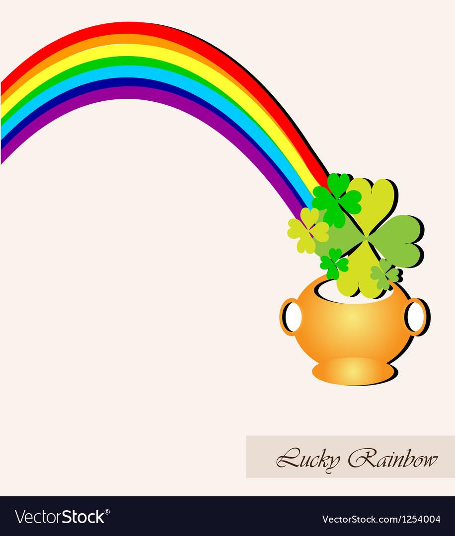Lucky rainbow vector | Price: 1 Credit (USD $1)