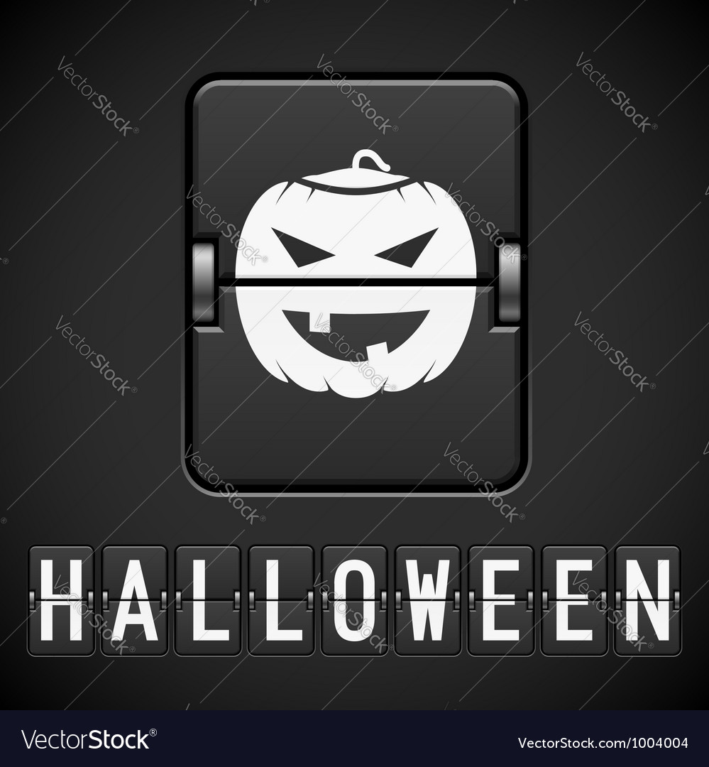 Scoreboard halloween sign of the designer vector | Price: 1 Credit (USD $1)