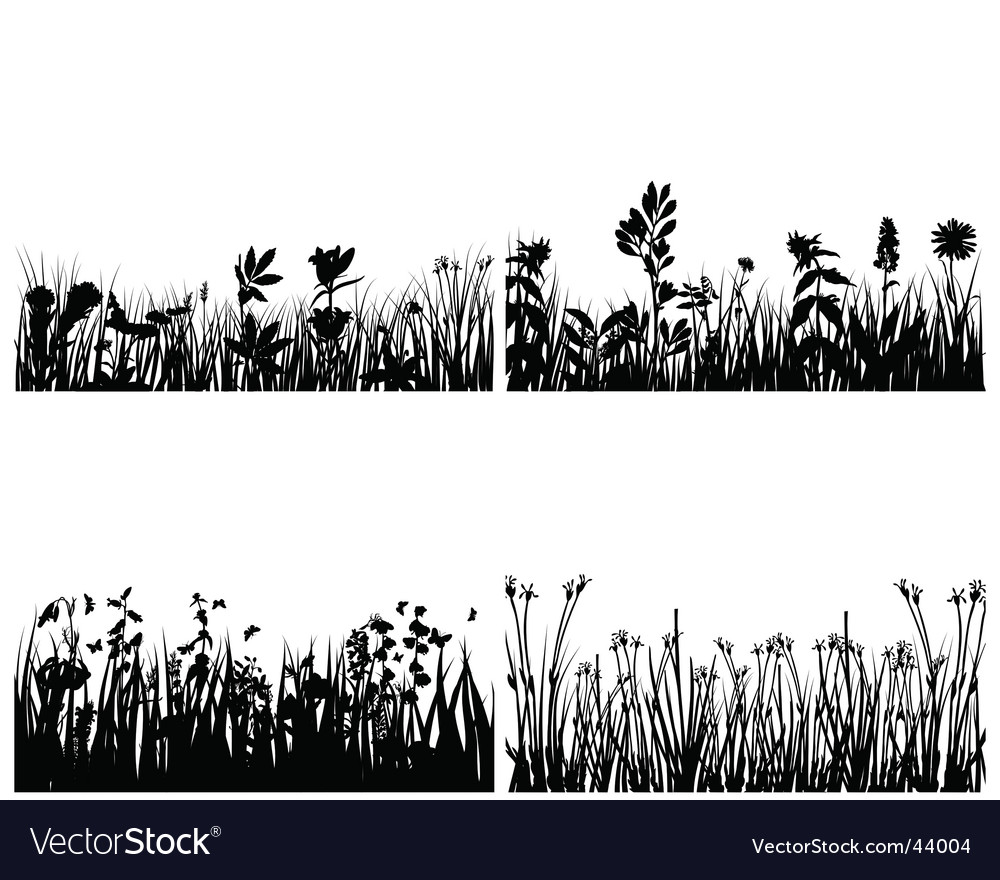 Set of grass backgrounds vector | Price: 1 Credit (USD $1)
