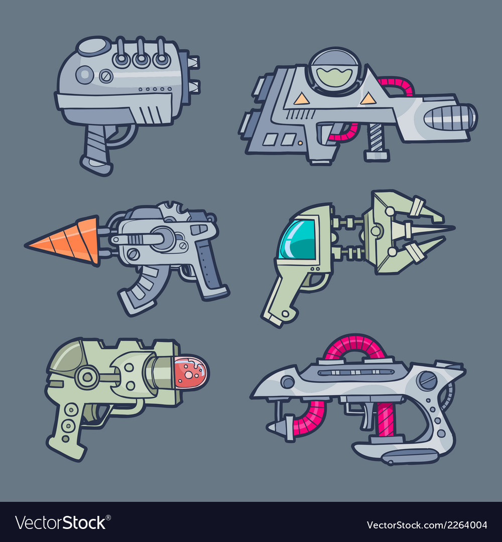 Set of weapons vector | Price: 1 Credit (USD $1)