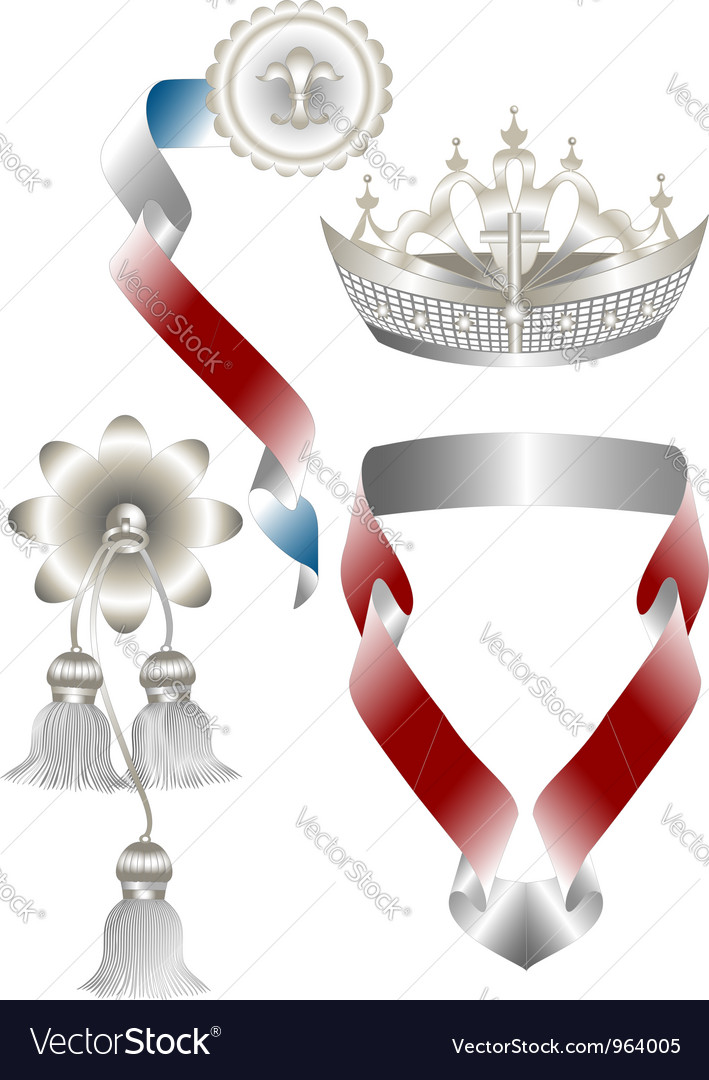 Attributes for royal heraldry vector | Price: 1 Credit (USD $1)