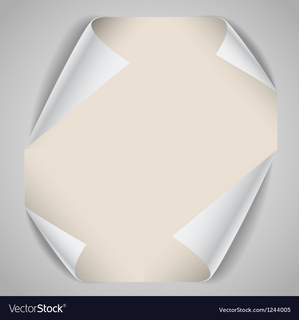 Blank paper sheet with bending corners vector | Price: 1 Credit (USD $1)