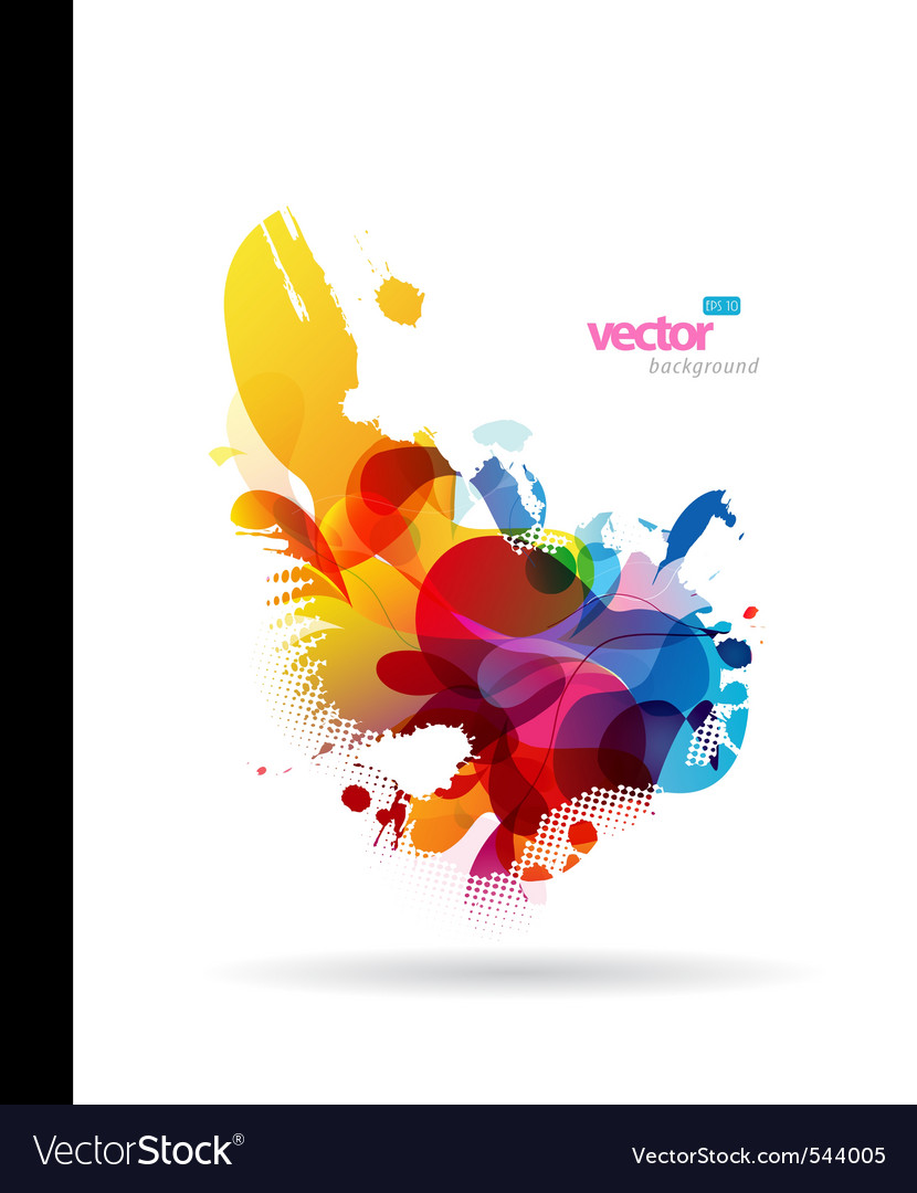 Colorful splash vector | Price: 1 Credit (USD $1)