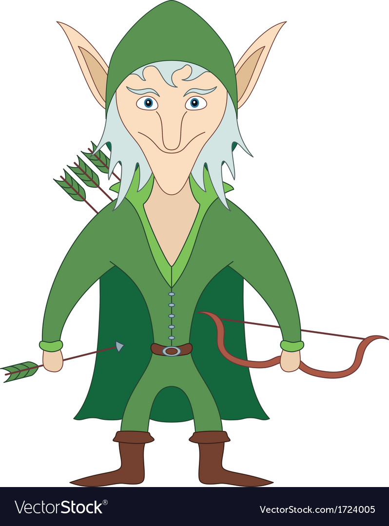 Elf archer vector | Price: 1 Credit (USD $1)
