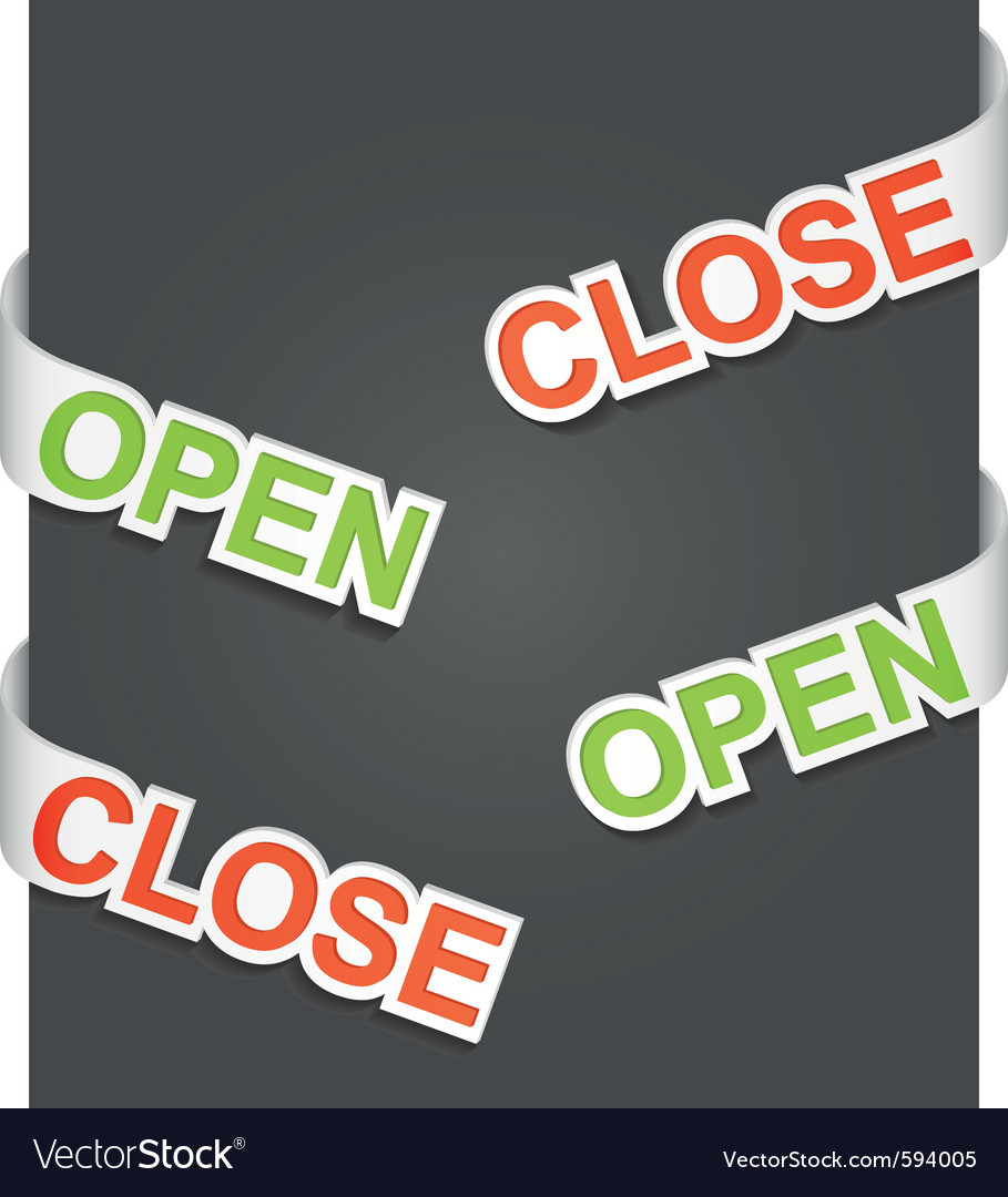 Open and close signs vector | Price: 1 Credit (USD $1)