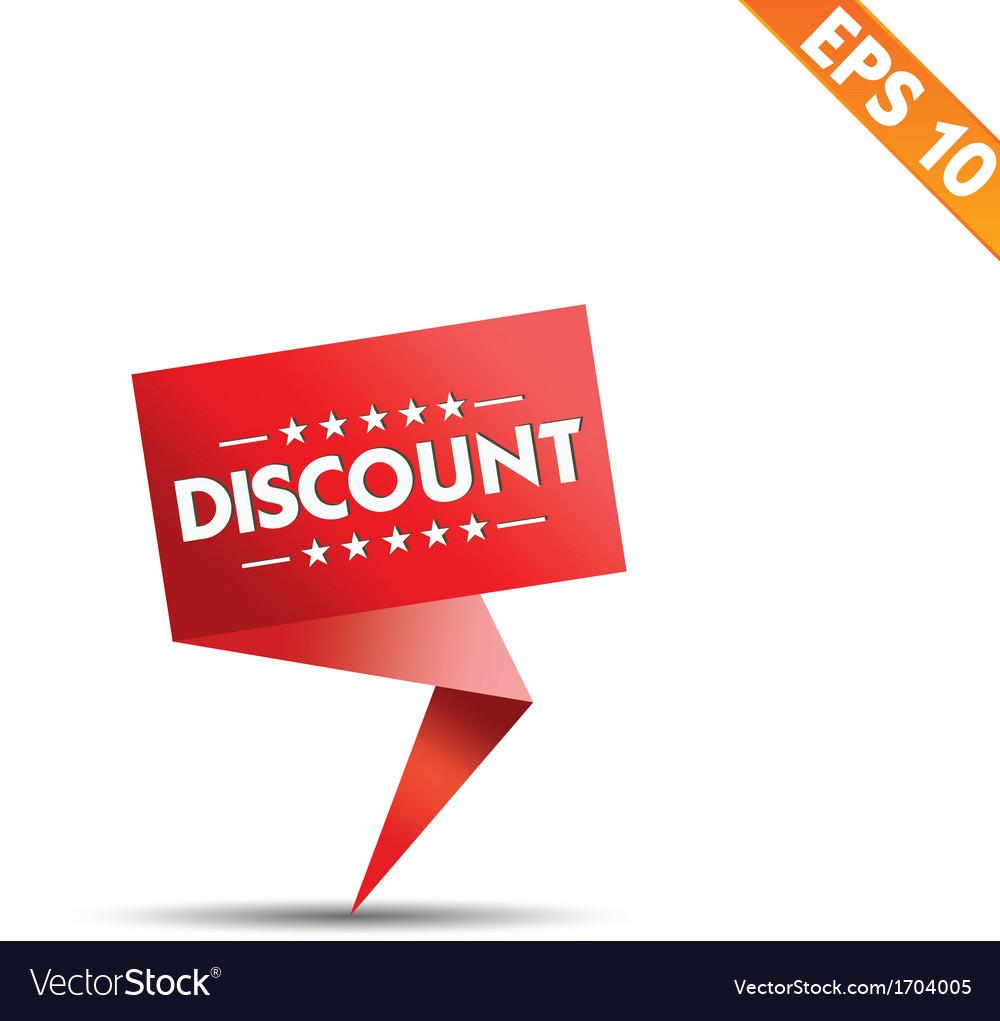 Sale discount colored origami banners - - e vector | Price: 1 Credit (USD $1)