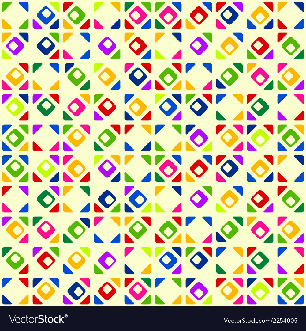 Seamless bright geometric pattern vector | Price: 1 Credit (USD $1)