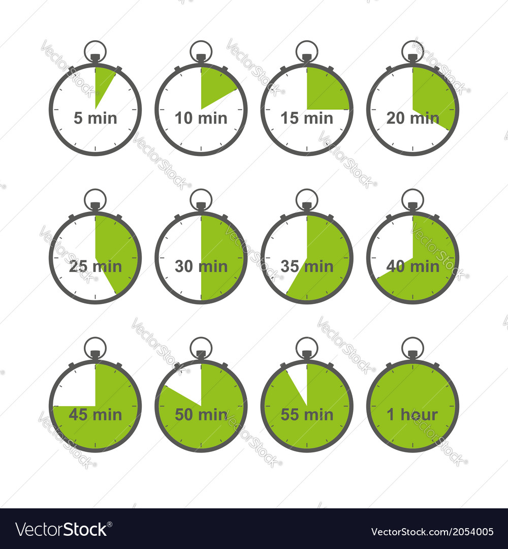 Stopwatch set vector | Price: 1 Credit (USD $1)