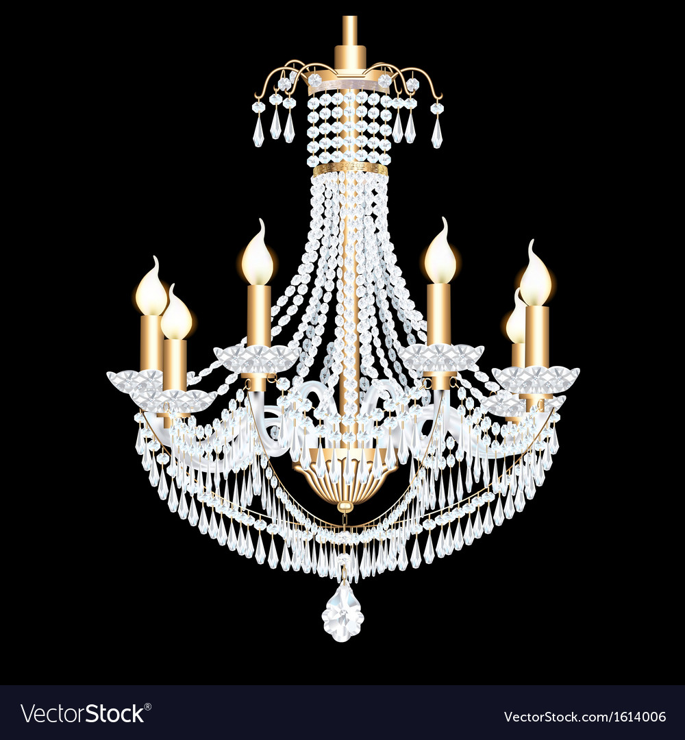 Crystal chandelier vector | Price: 1 Credit (USD $1)