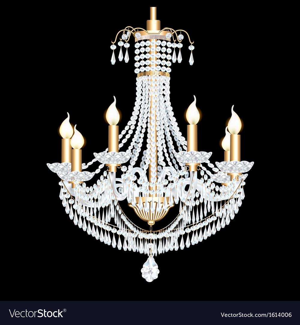 Crystal chandelier vector | Price: 1 Credit (USD $1)