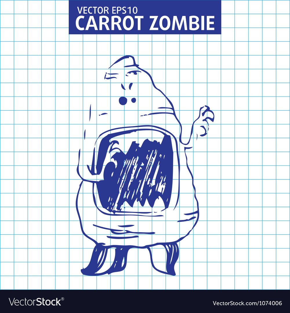 Cute cartoon character sketch vector | Price: 1 Credit (USD $1)