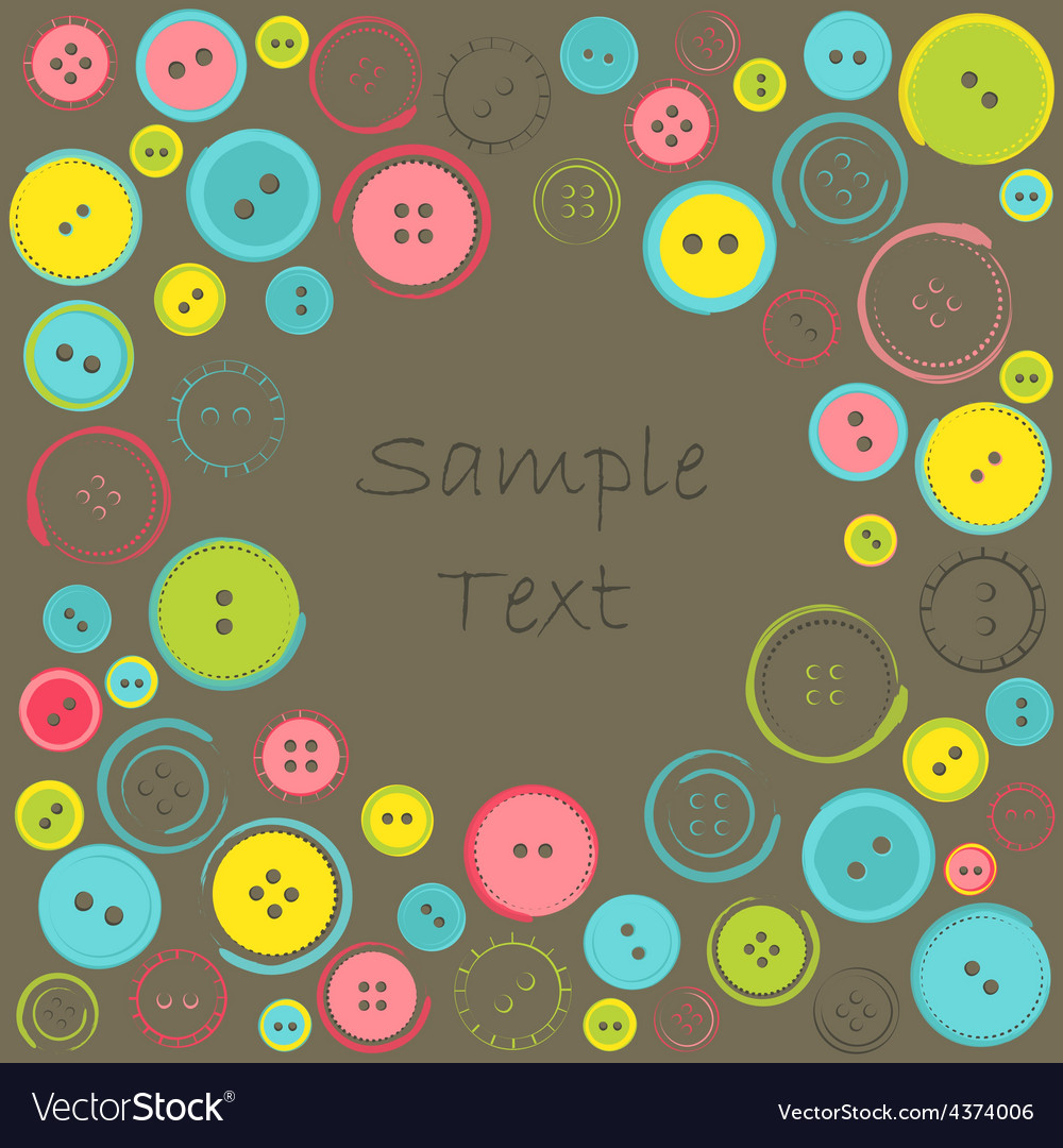 Decorative frame with circle of buttons over dark vector | Price: 1 Credit (USD $1)