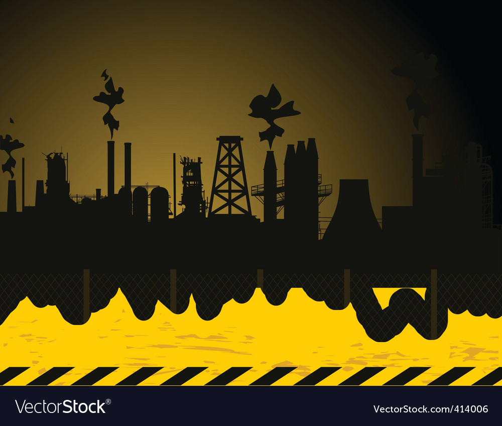 Industrial city2 vector | Price: 1 Credit (USD $1)
