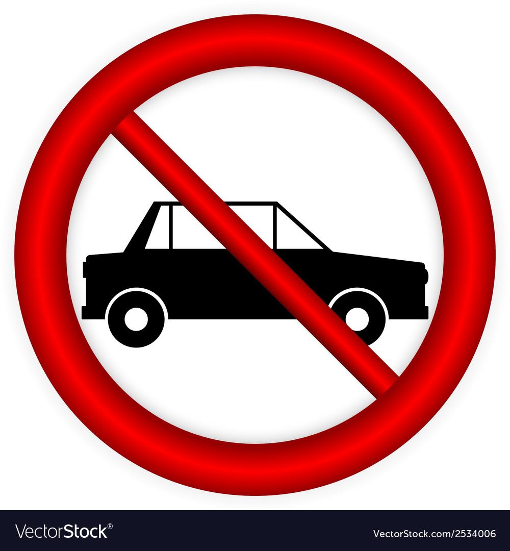 No parking sign icon vector | Price: 1 Credit (USD $1)