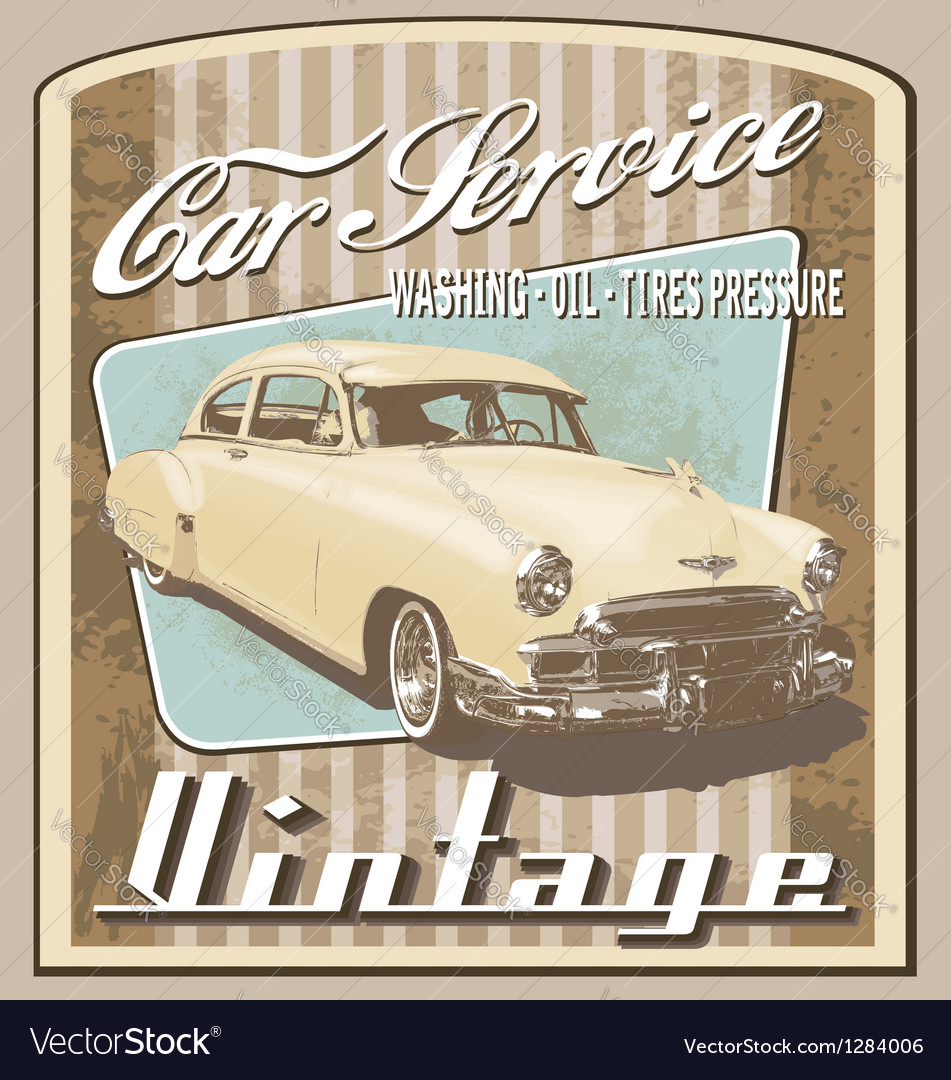 Old car vintage vector | Price: 1 Credit (USD $1)