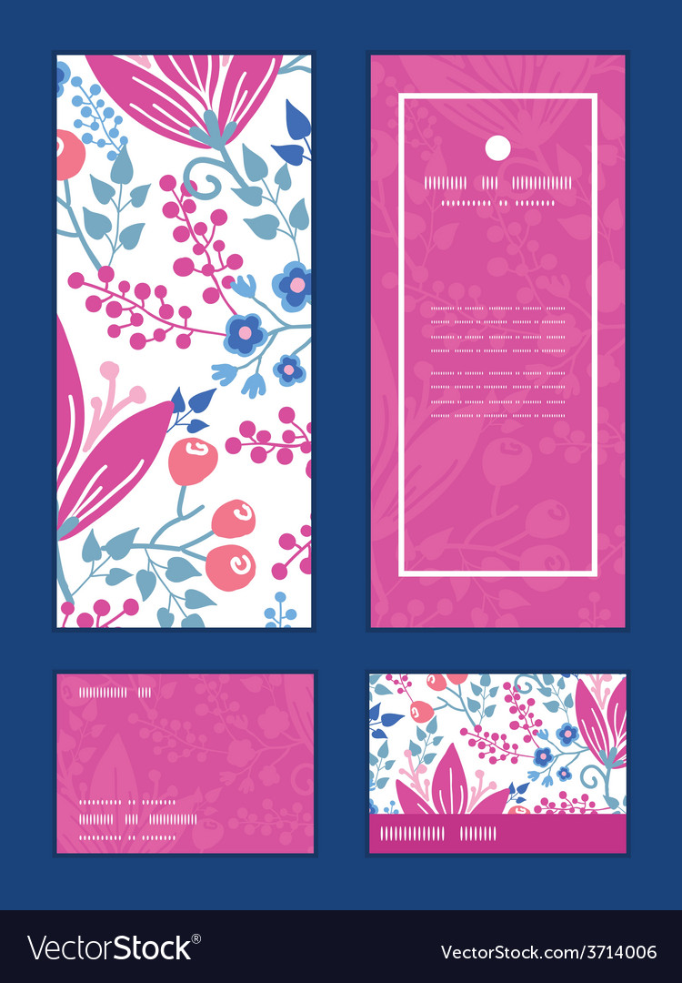 Pink flowers vertical frame pattern vector   Price: 1 Credit (USD $1)