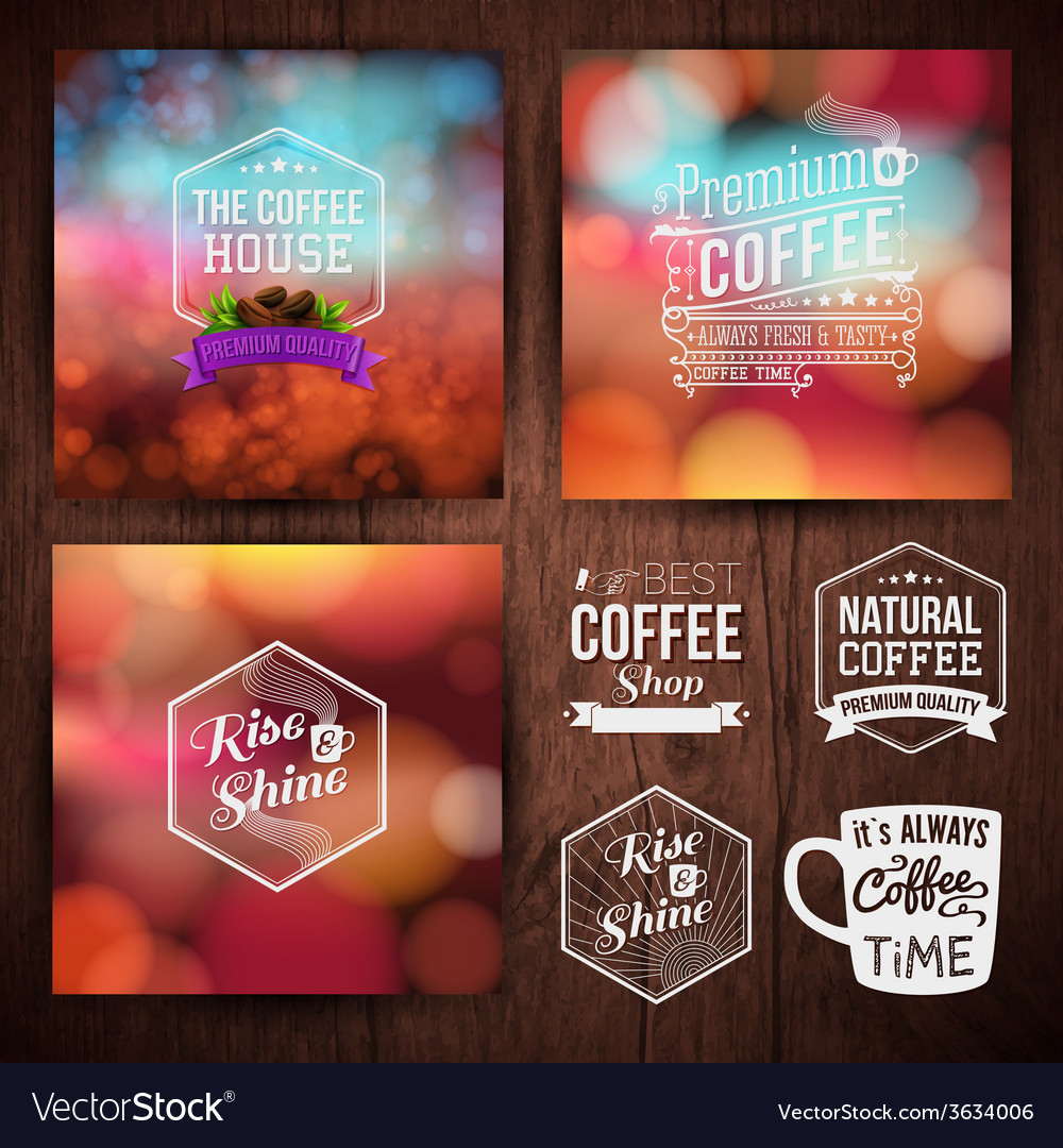 Premium coffee advertising poster and coffee beans vector | Price: 1 Credit (USD $1)