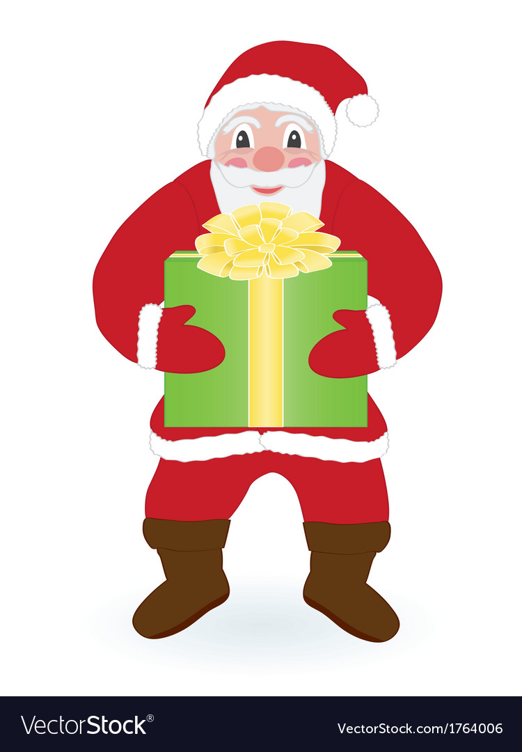 Santa claus with present vector   Price: 1 Credit (USD $1)