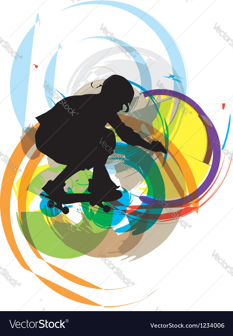Skater boy vector | Price: 1 Credit (USD $1)