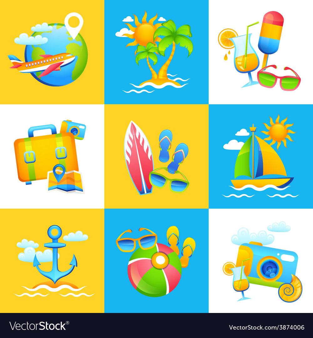 Summer vacation design concept vector | Price: 1 Credit (USD $1)