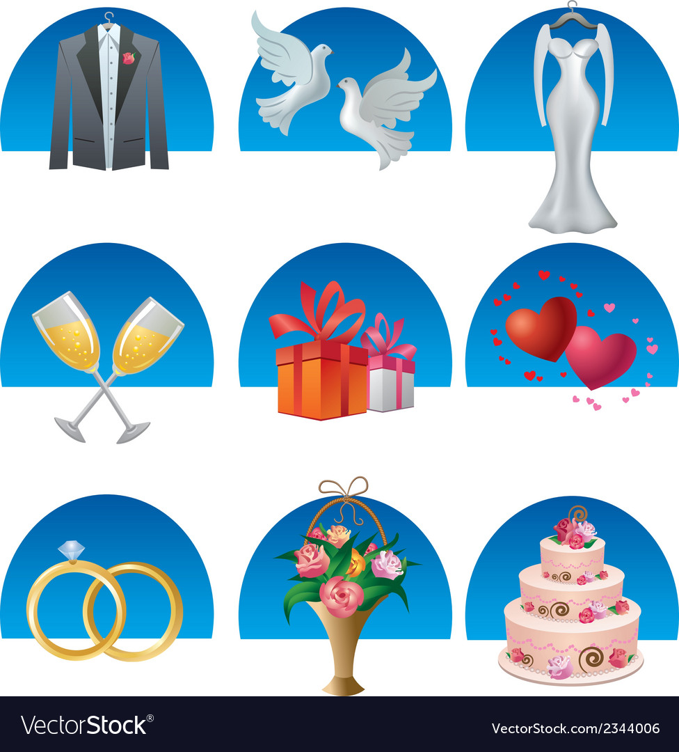 Wedding icon set2 vector | Price: 1 Credit (USD $1)