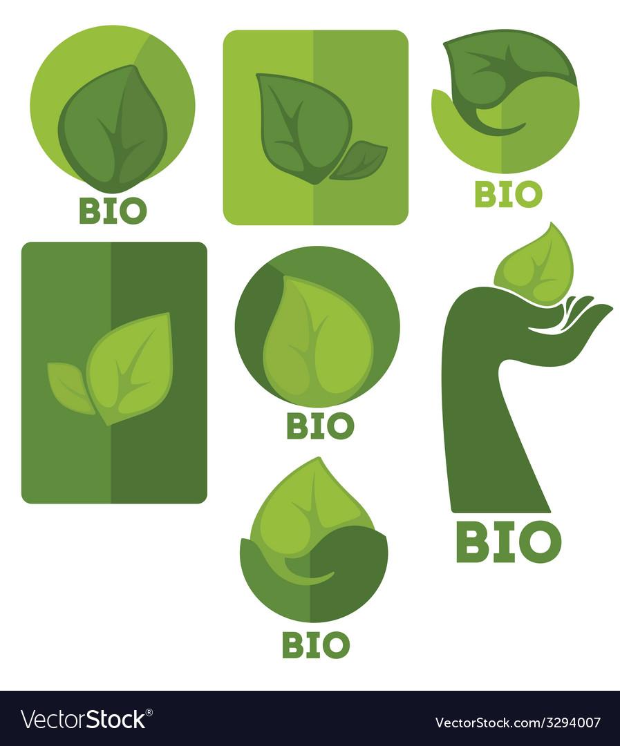 Eco symbols vector | Price: 1 Credit (USD $1)