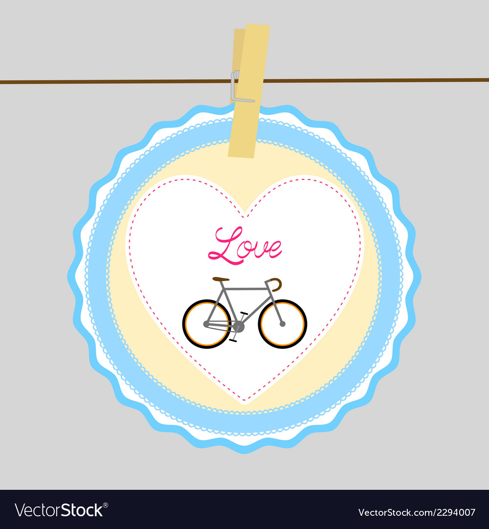 I love bicycle5 vector | Price: 1 Credit (USD $1)