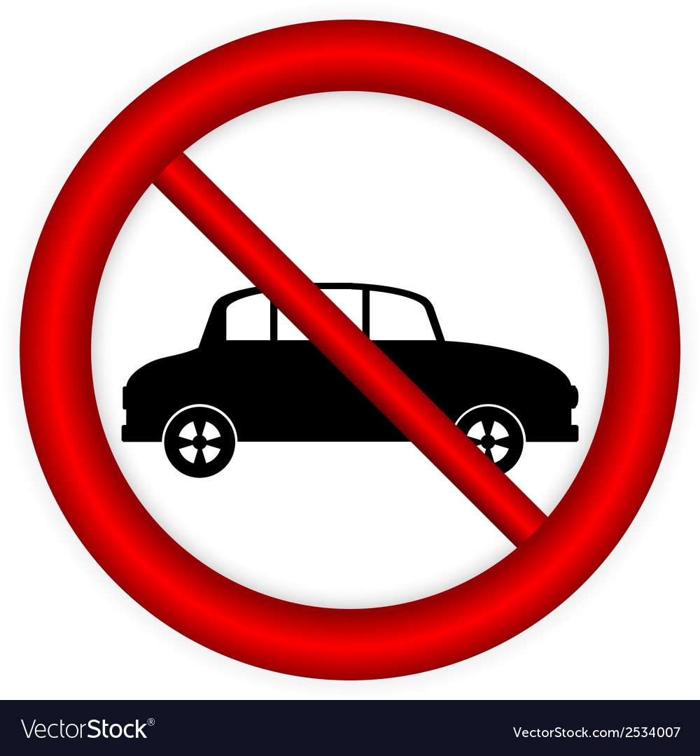 No parking sign icon vector | Price: 1 Credit (USD $1)
