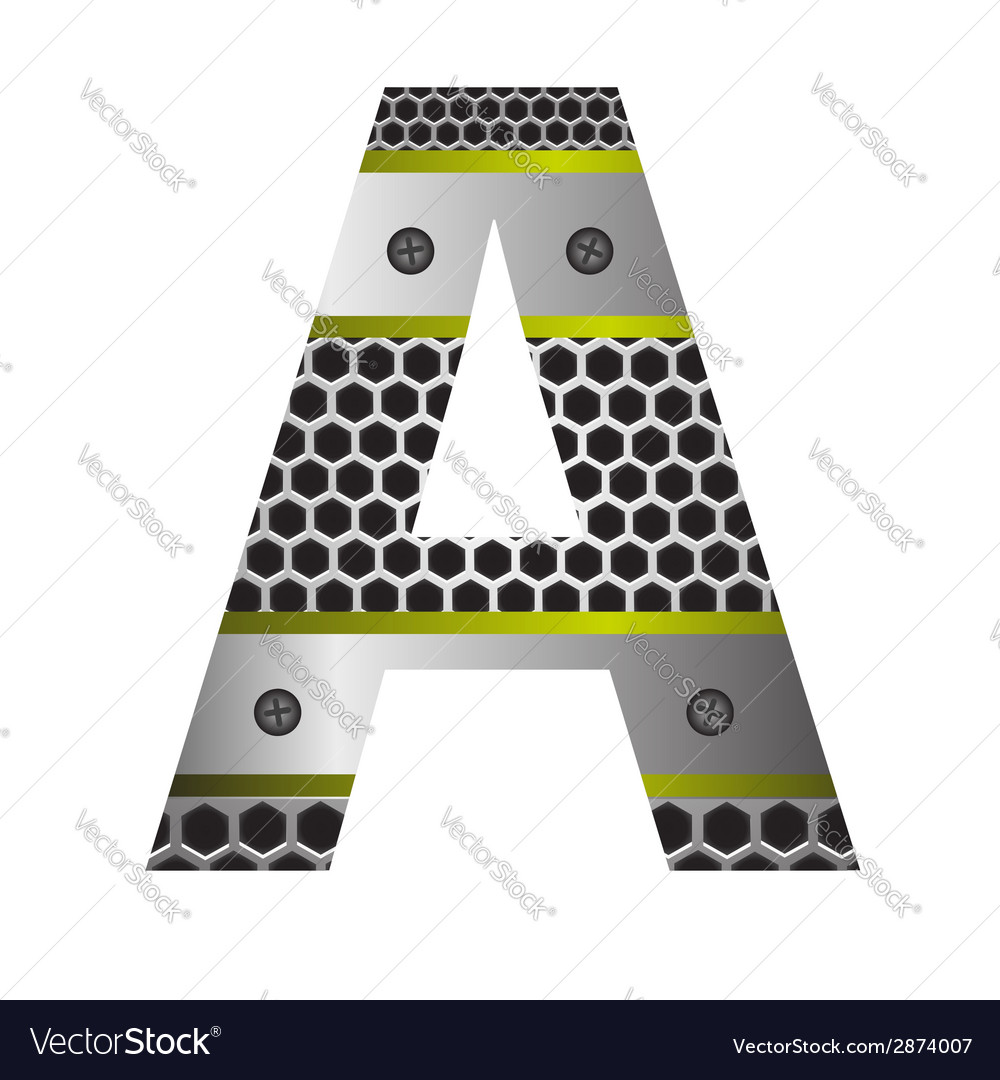 Perforated metal letter a vector | Price: 1 Credit (USD $1)