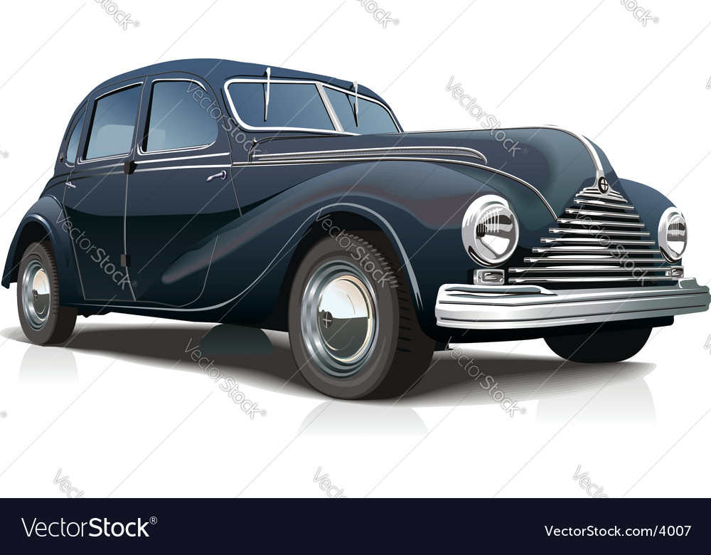 Retro car vector | Price: 5 Credit (USD $5)