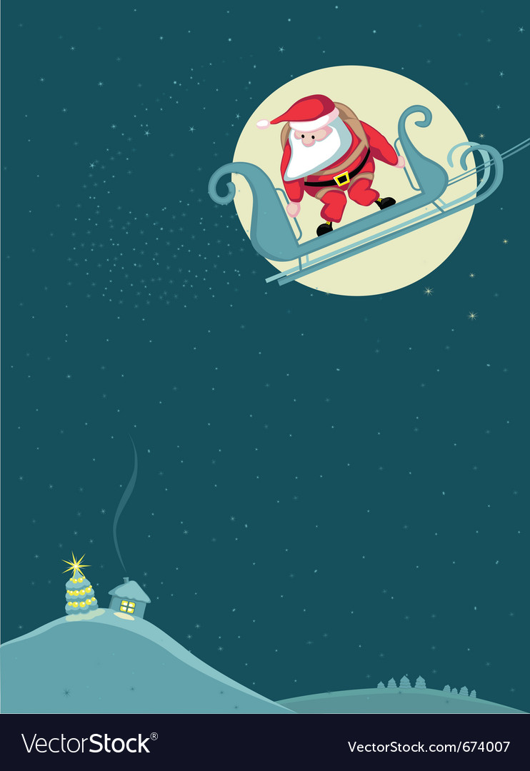 Santa before parachute jump vector | Price: 1 Credit (USD $1)
