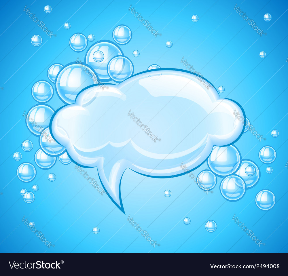 Bubbles cloud in water for vector | Price: 1 Credit (USD $1)