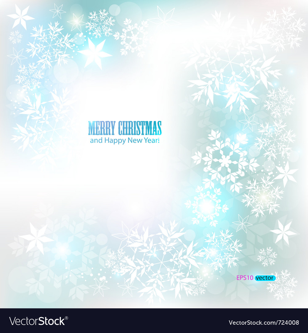 Elegant christmas background with snowflakes and p vector | Price: 1 Credit (USD $1)