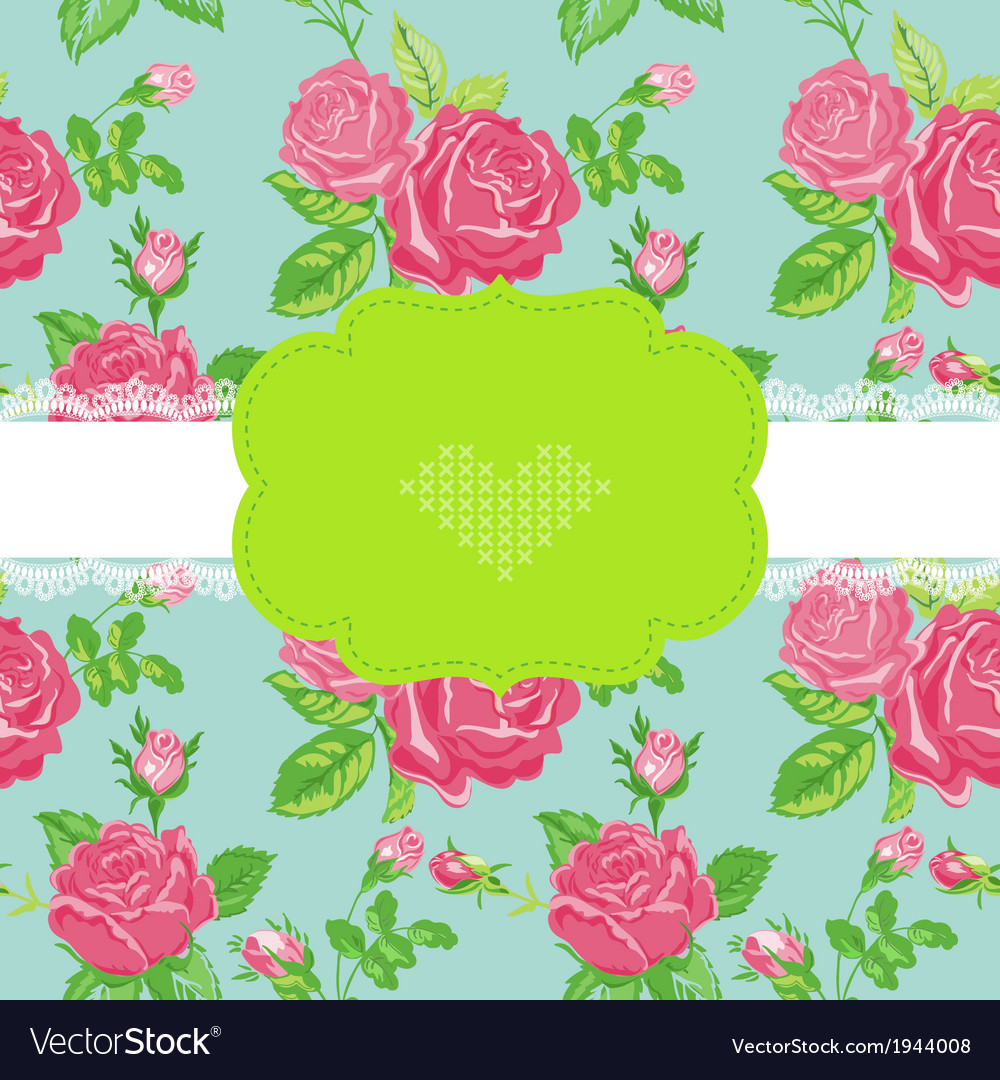 Floral shabby chic card vector | Price: 1 Credit (USD $1)