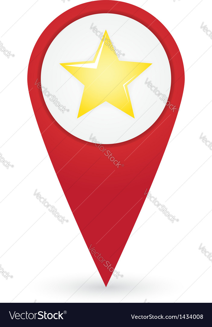 Gps marker with favourites icon vector | Price: 1 Credit (USD $1)