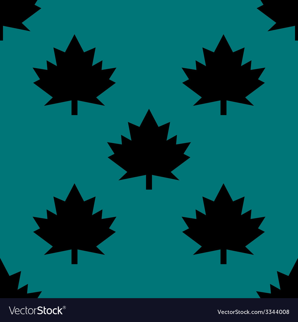 Maple leaf wb icon flat design seamless gray vector | Price: 1 Credit (USD $1)