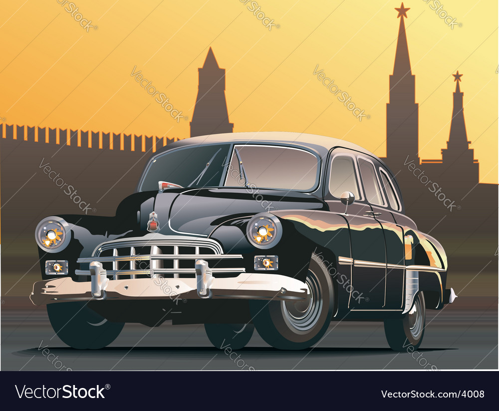 Retro limousine vector | Price: 5 Credit (USD $5)
