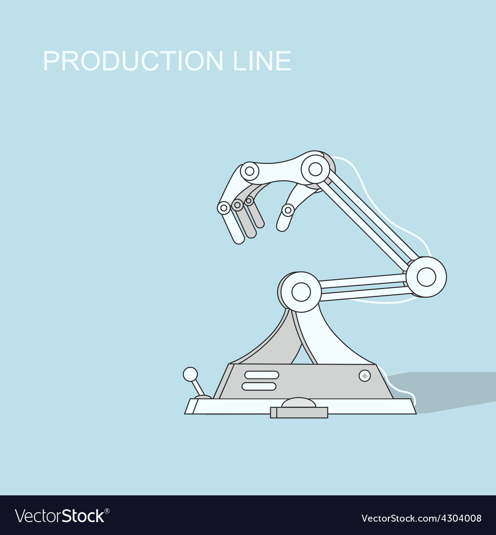Robotic production line manufacturing and vector | Price: 1 Credit (USD $1)