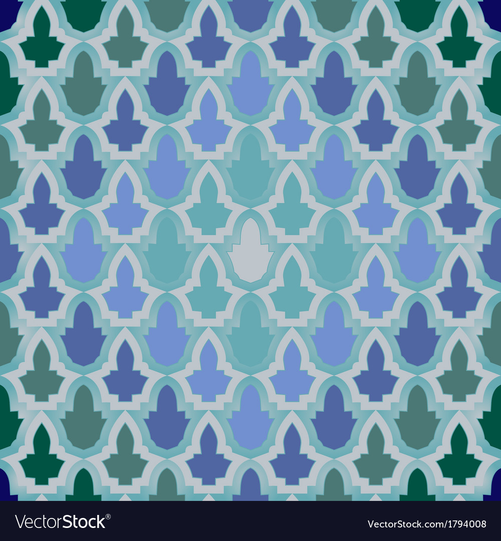Seamless geometric pattern in islamic style vector | Price: 1 Credit (USD $1)
