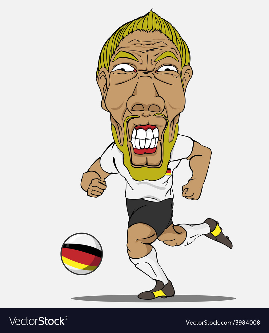Soccer player german vector | Price: 1 Credit (USD $1)