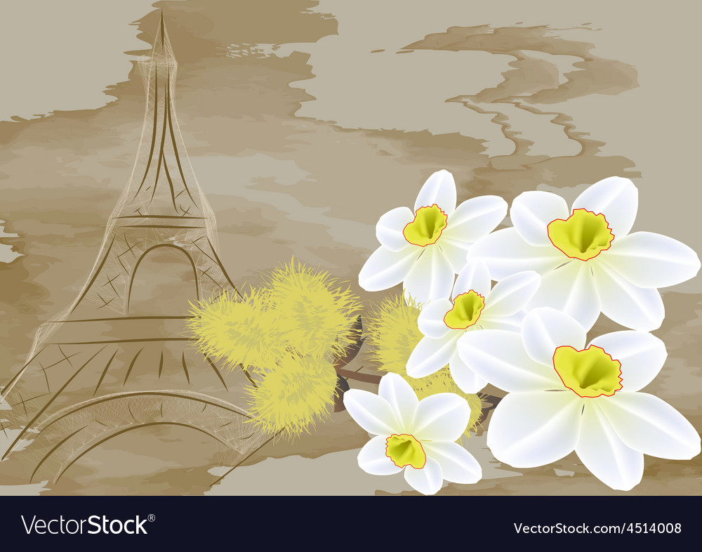 Spring in europe vector | Price: 1 Credit (USD $1)