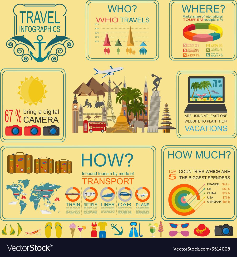 Travel vacations beach resort infographics vector   Price: 1 Credit (USD $1)