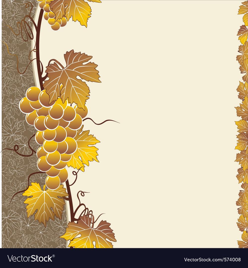 Vine brown frame vector | Price: 1 Credit (USD $1)