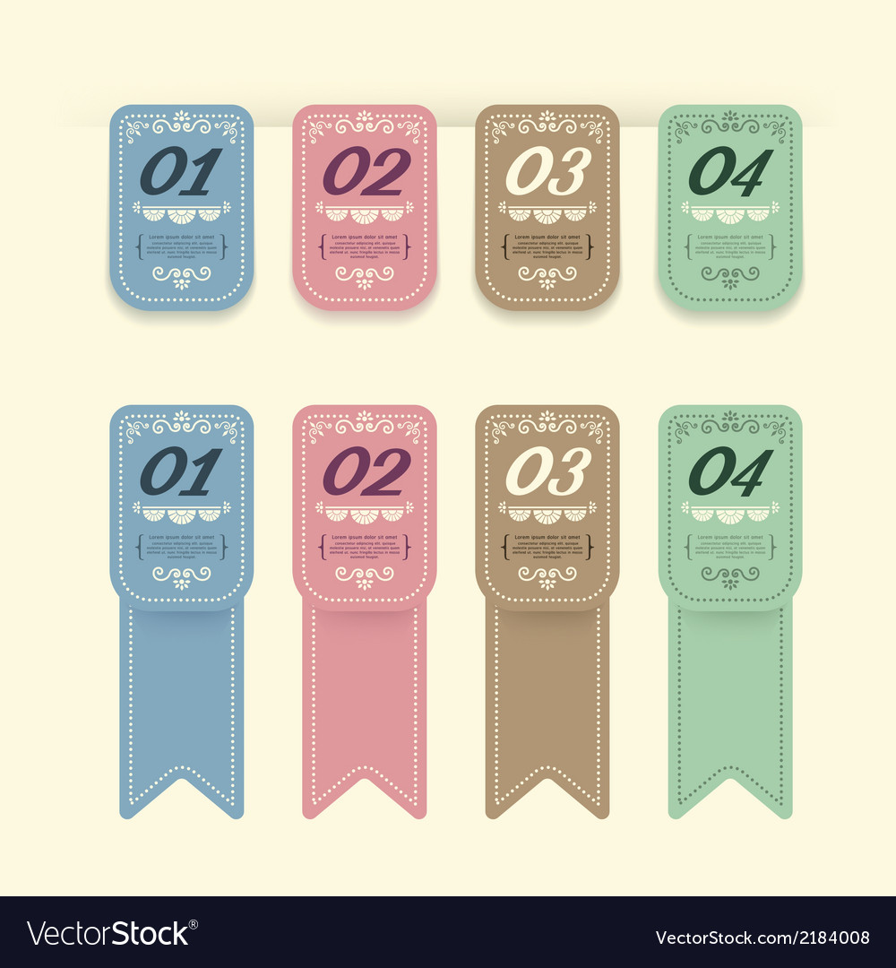 Vintage design labels infographic template vector | Price: 1 Credit (USD $1)
