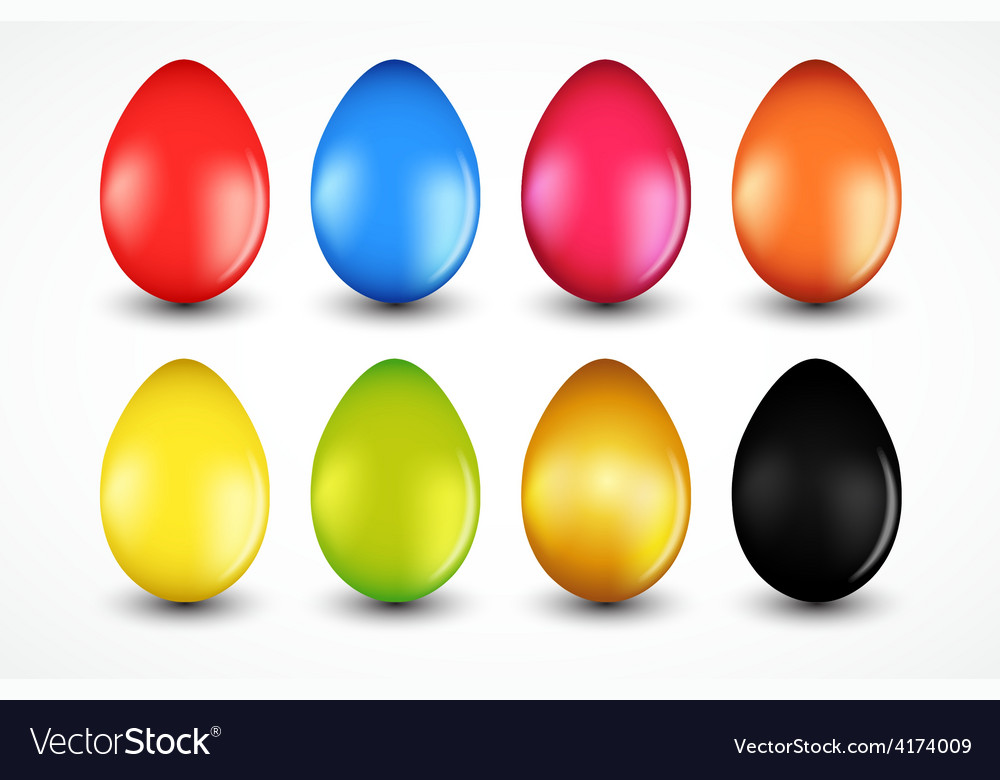 Beautiful easter egg set vector | Price: 3 Credit (USD $3)